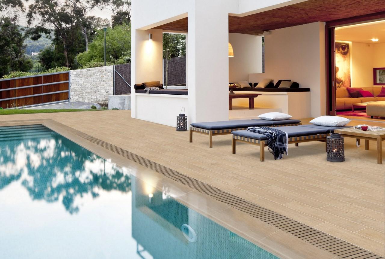 Suelos de gres porcel nico para exteriores piscinas y jardines - Suelos para exterior ...