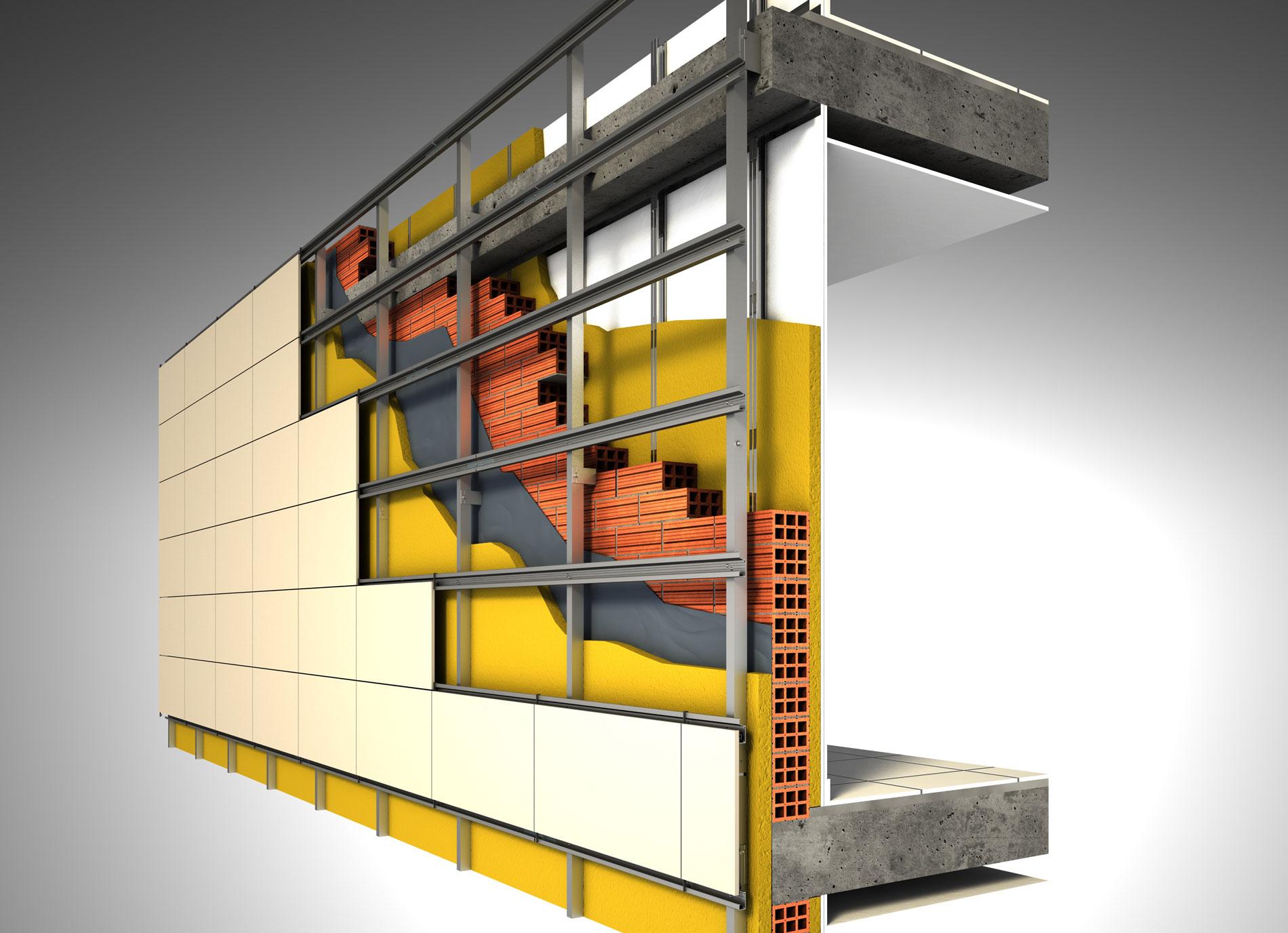 Recubrimiento De Fachadas Para Aislamiento - Recubrimientos-fachadas