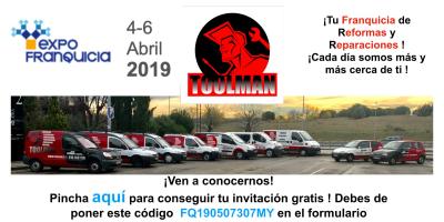 Toolman presente en la EXPOFRANQUICIA 2019
